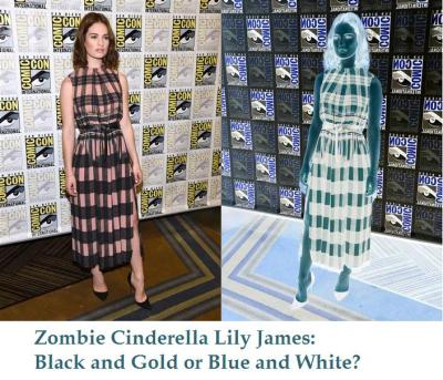 zombie cinderella lily james blue white gold black
